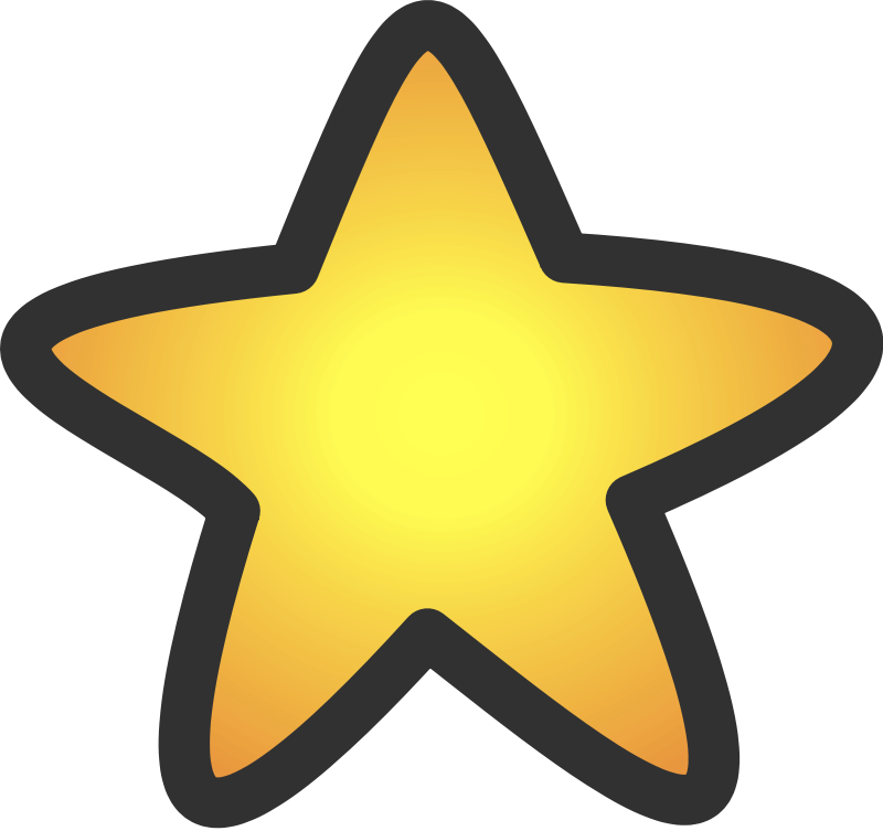 Gold star Clipart.