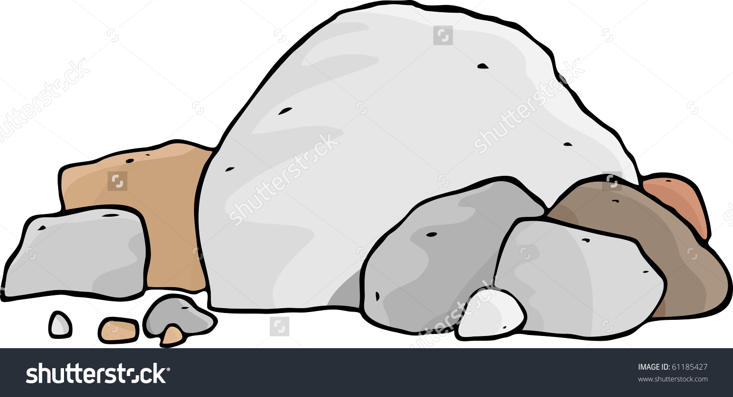 Pile of rocks with water clipart.