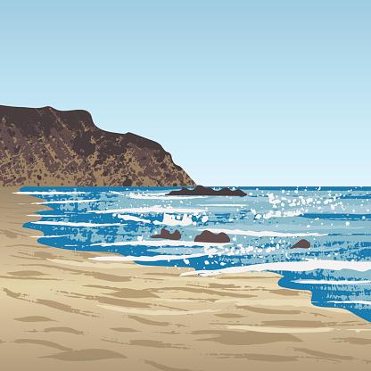 Rock Shore Clip Art, Vector Images & Illustrations.
