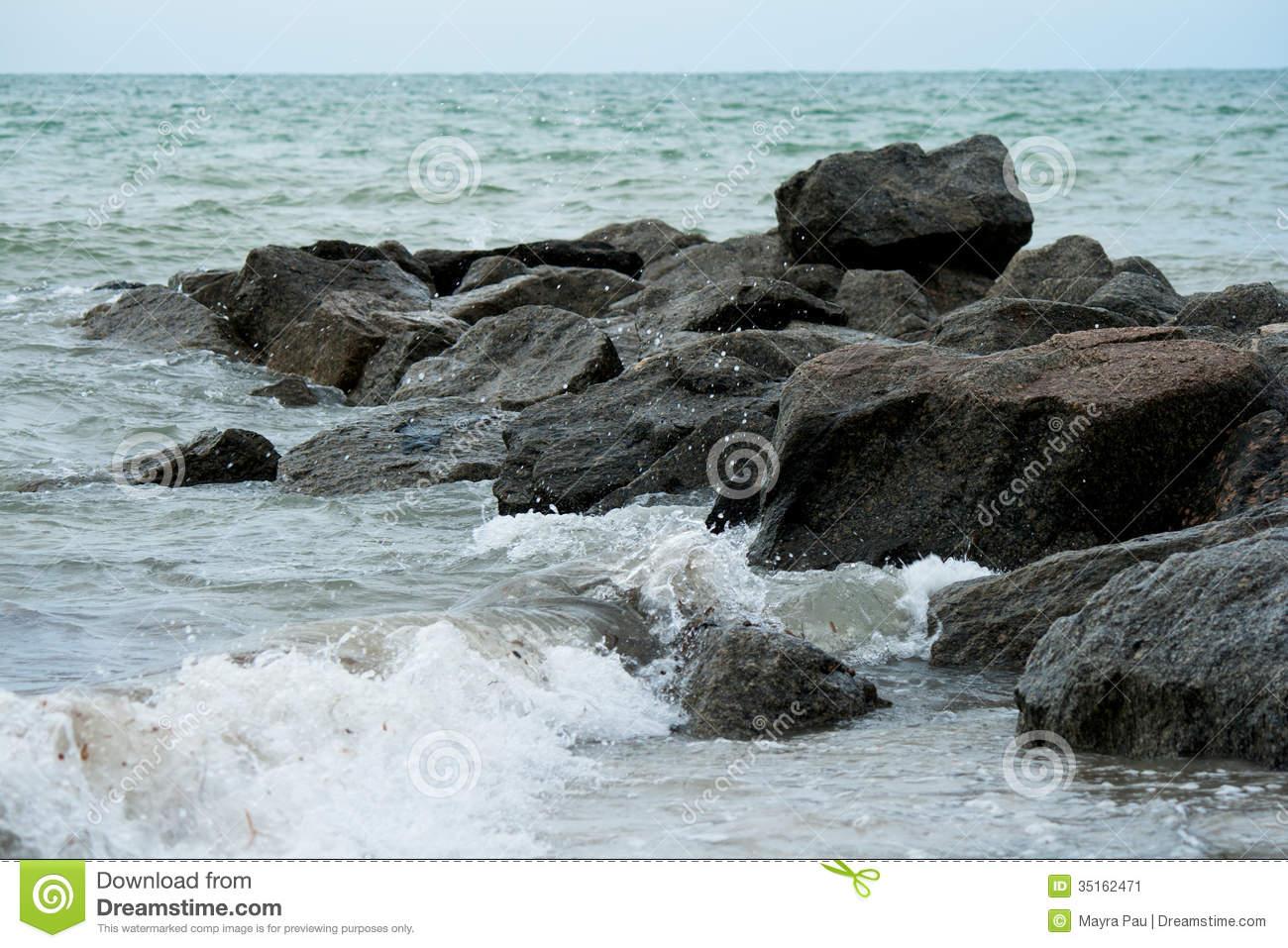 Sea Rocks Stock Image.