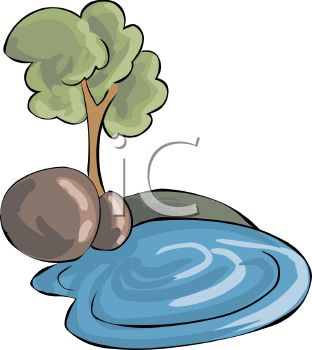 Free clipart tree rocks.