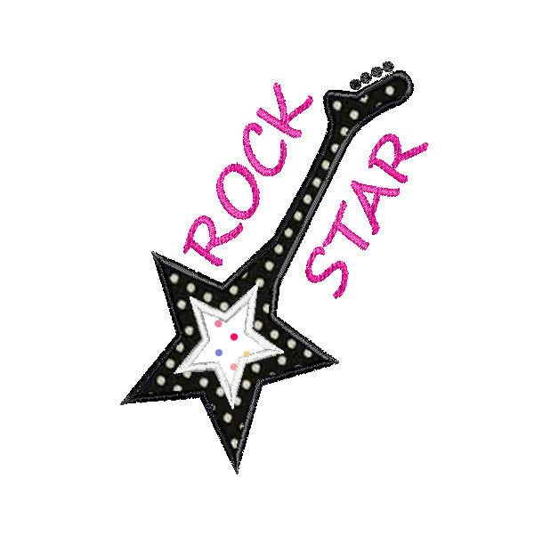 Rock star guitar clipart.
