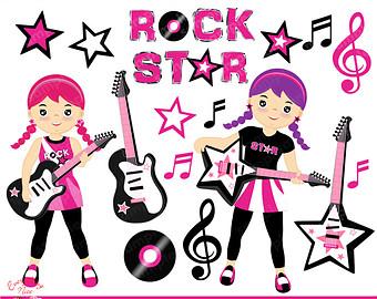 Rock star clipart.