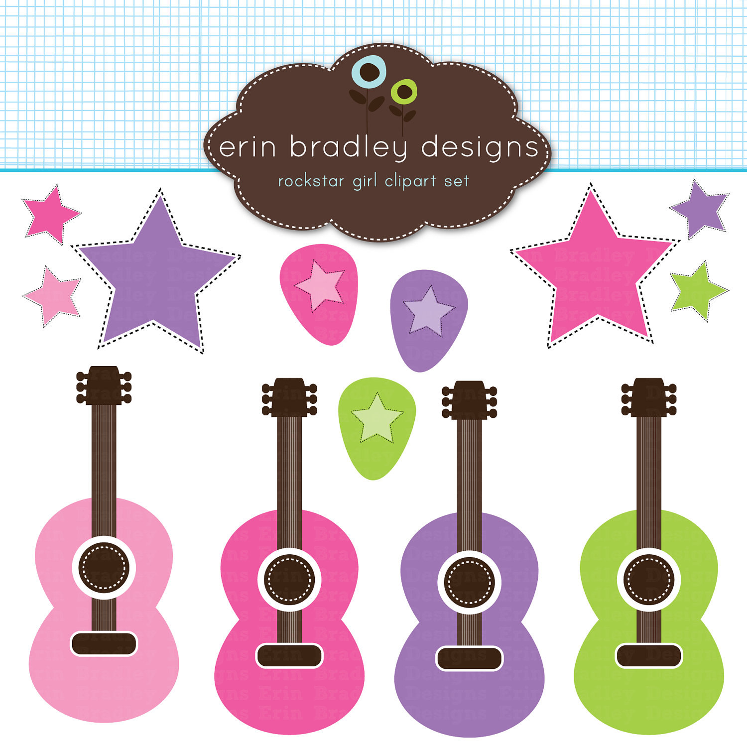 Rock Star Girl Clip Art Pictures to Pin on Pinterest.