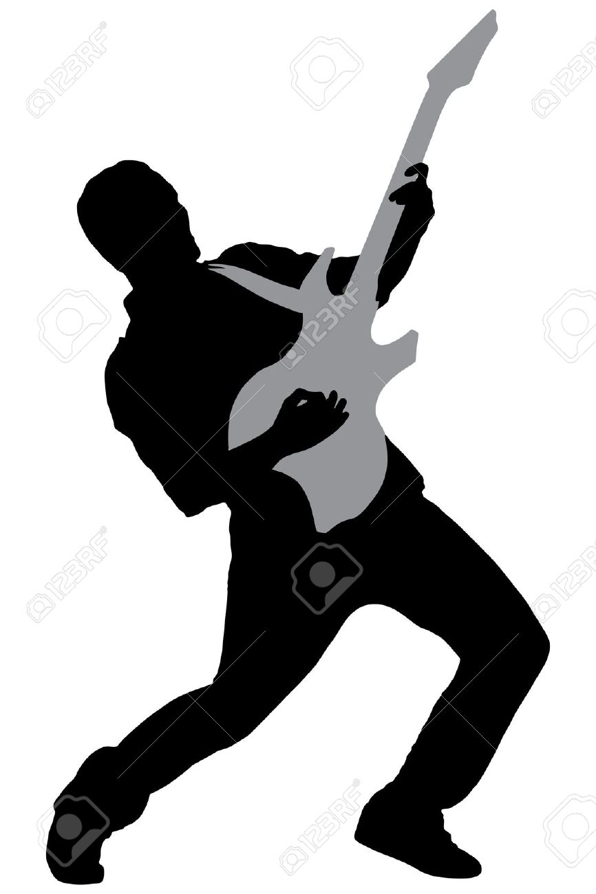 Rock Star Guitar Clipart.