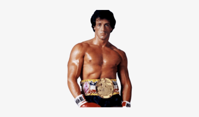 Rocky Balboa Black And White PNG Image.