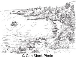 Rocky shore Clipart and Stock Illustrations. 272 Rocky shore.