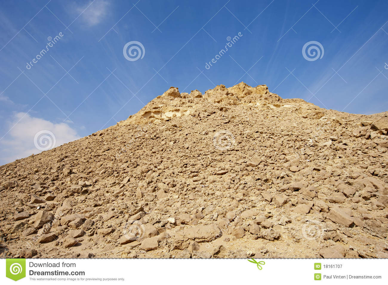 Rocky Hill In A Desert Royalty Free Stock Photography.