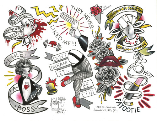 ROCKY HORROR Picture Show Tattoo Flash Sheet by Kristyn by DOEPEZ.