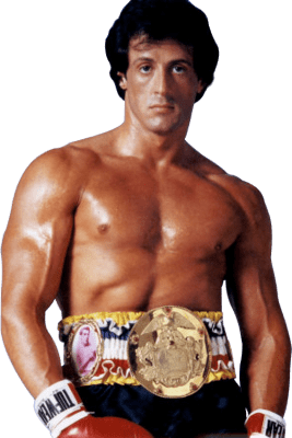 Sylvester Stallone Rocky transparent PNG.