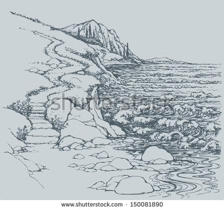 Showing post & media for Rocky shoreline cartoon.