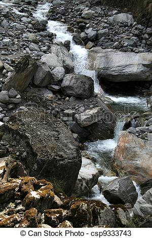 Stock Photos of Flow through Rocky Terrain.