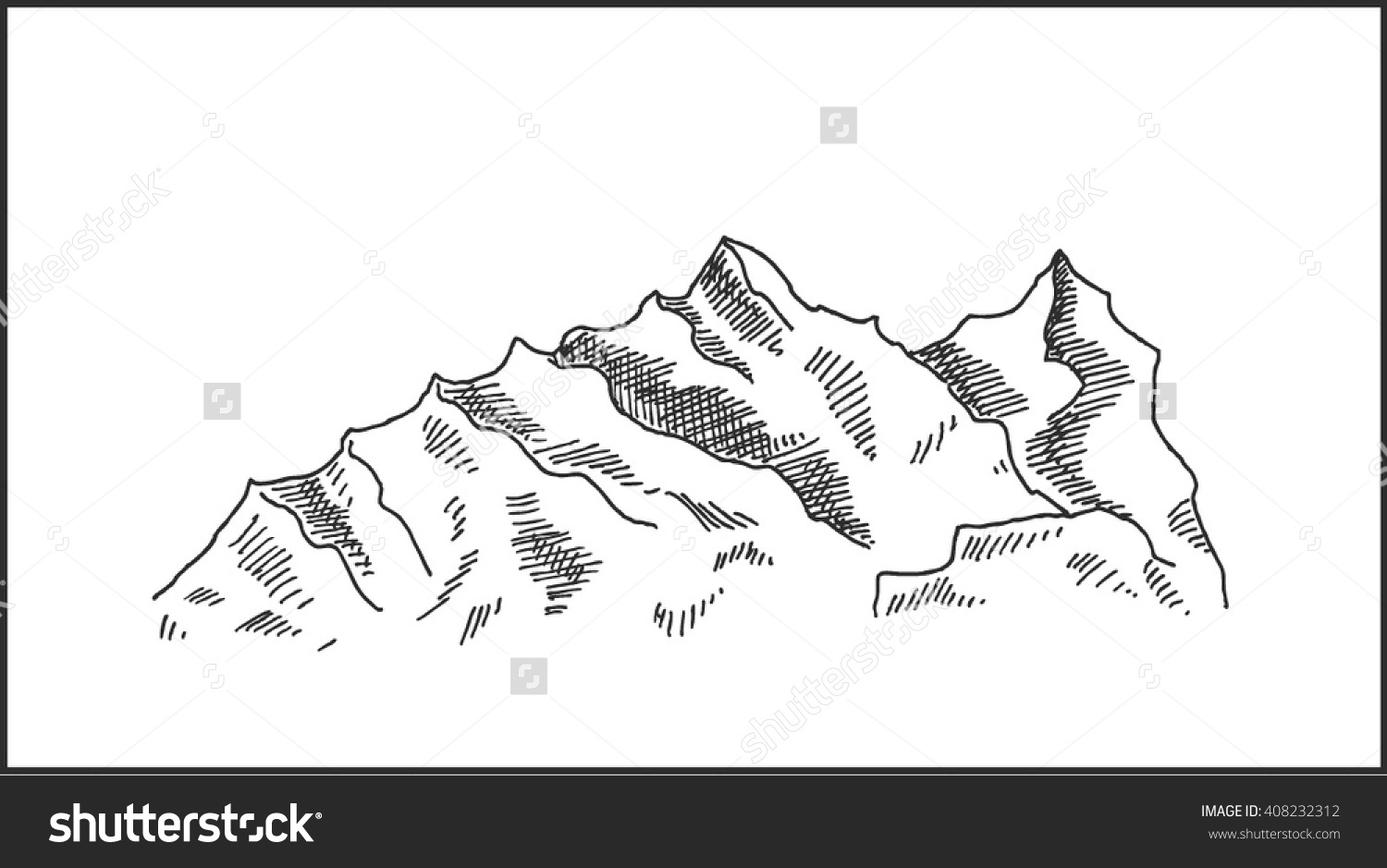 Rocky Mountain Landscape Clip Art.