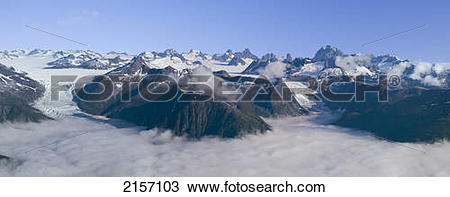 Stock Photo of View Of The Rocky Monoliths And Mendenhall Towers.