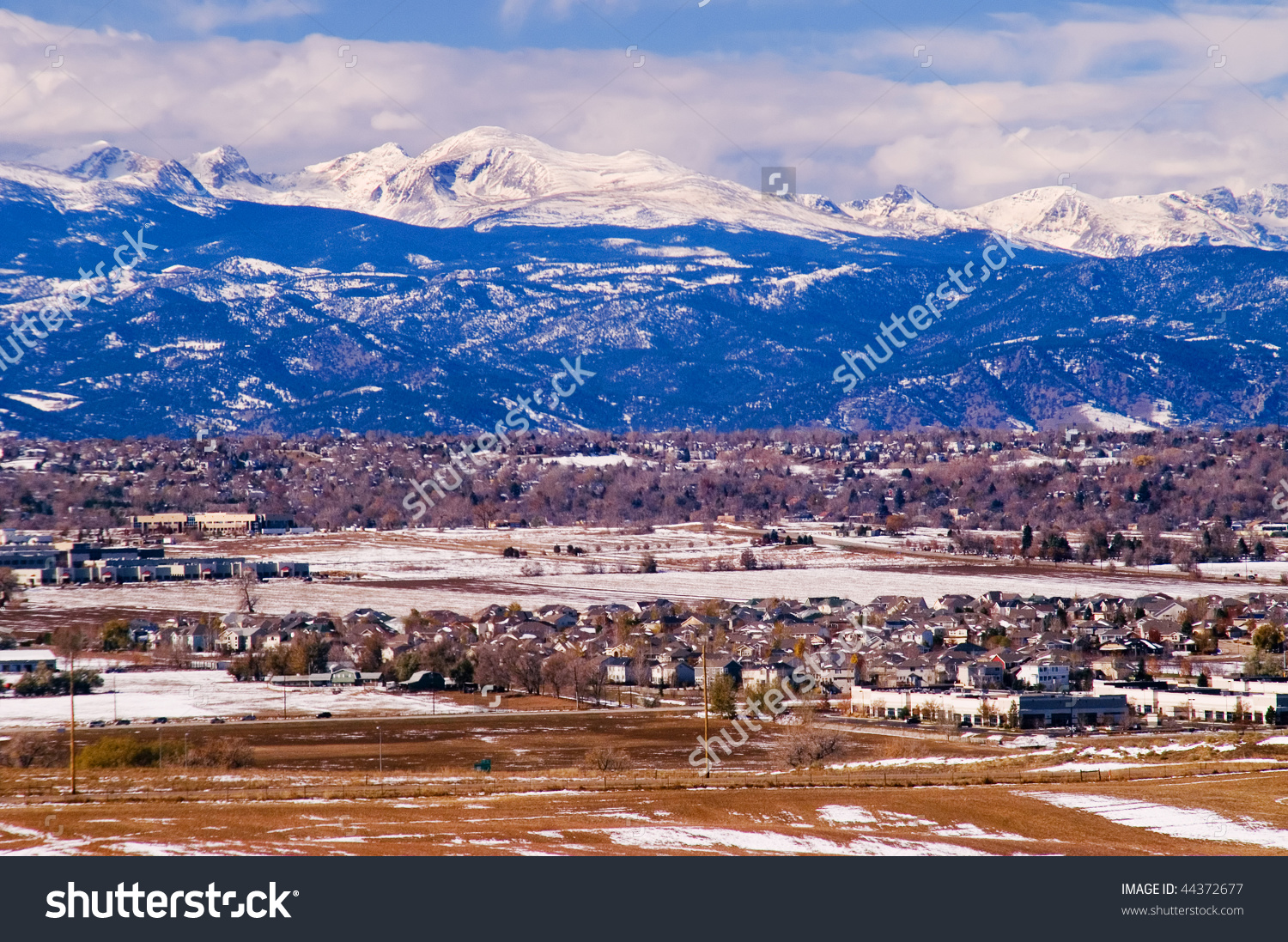 Colorado Front Range Rocky Mountains During Stock Photo 44372677.