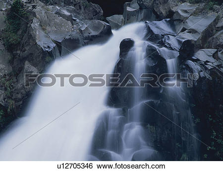 Stock Images of Rocky Waterfall u12705346.