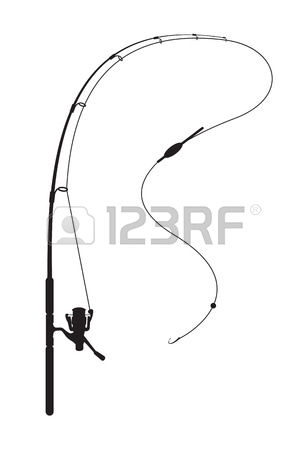Rod And Reel Silhouette Clipart Clipground