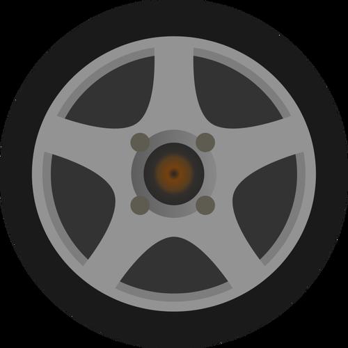 Car Wheel Tire Vector.