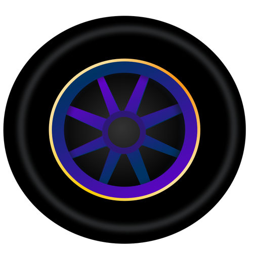 Carro roda vetor clip.