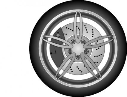 Mobil Roda Clip Art.