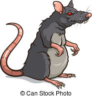 Animal cartoon gray happy illustration mouse rat rodent Clipart.