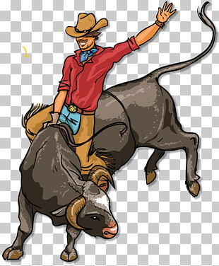 Bull riding Rodeo , bull PNG clipart.