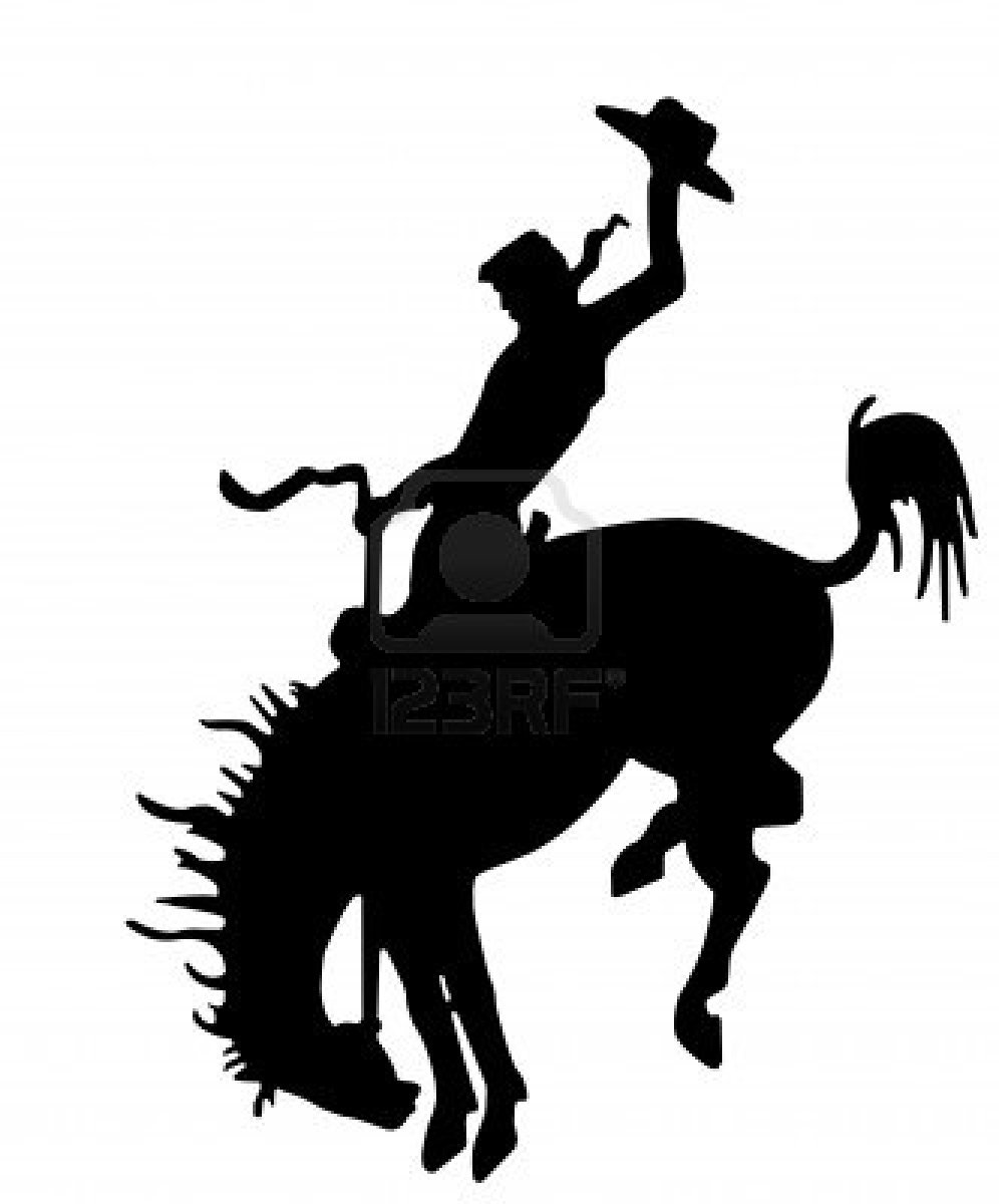 Rodeo Silhouette Clipart.