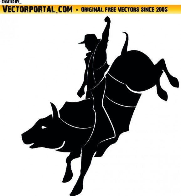 Rodeo clipart Vector.