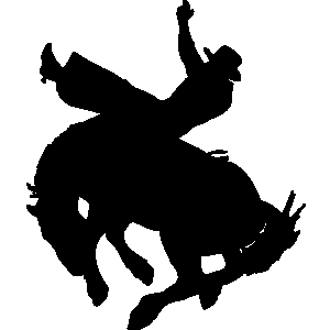 Rodeo horse clipart.