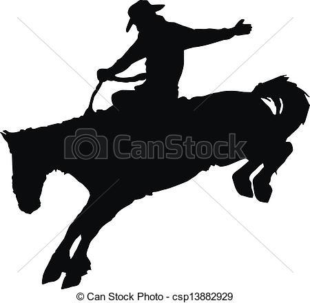 Western Horse Riding Clipart cowboy riding horse cl...