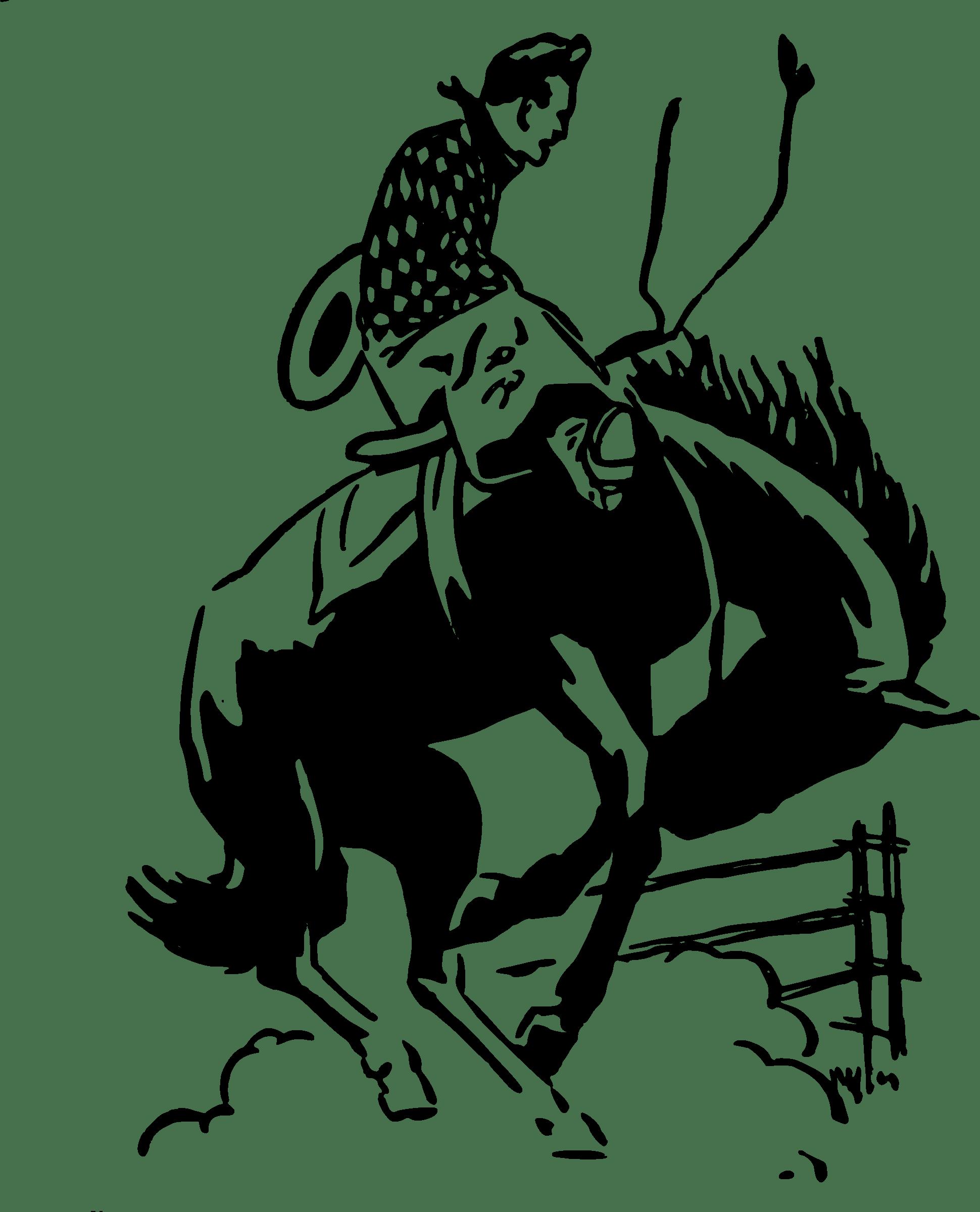 Cowboy Rodeo Clipart transparent PNG.