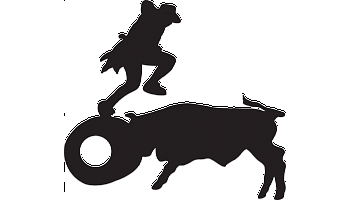 Rodeo Clown Decal.