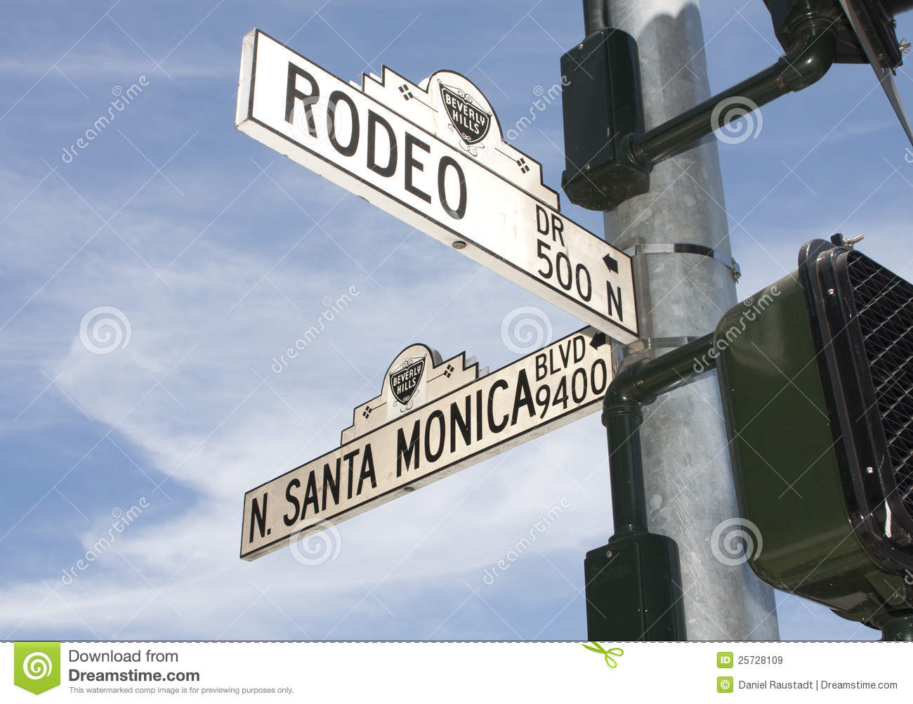 Rodeo Drive Street Sign In Beverly Hills, CA Editorial Stock Image.