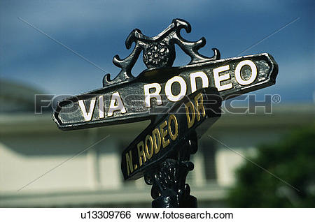 Stock Images of Rodeo Drive and Via Rodeo Drive in Beverly Hills.