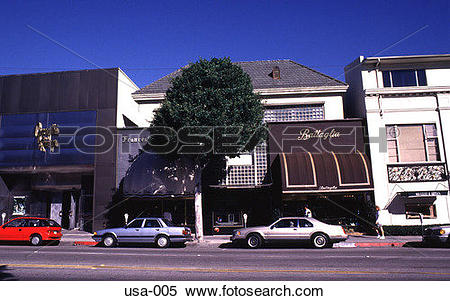 Stock Image of Shops on Rodeo Drive Los Angeles usa.