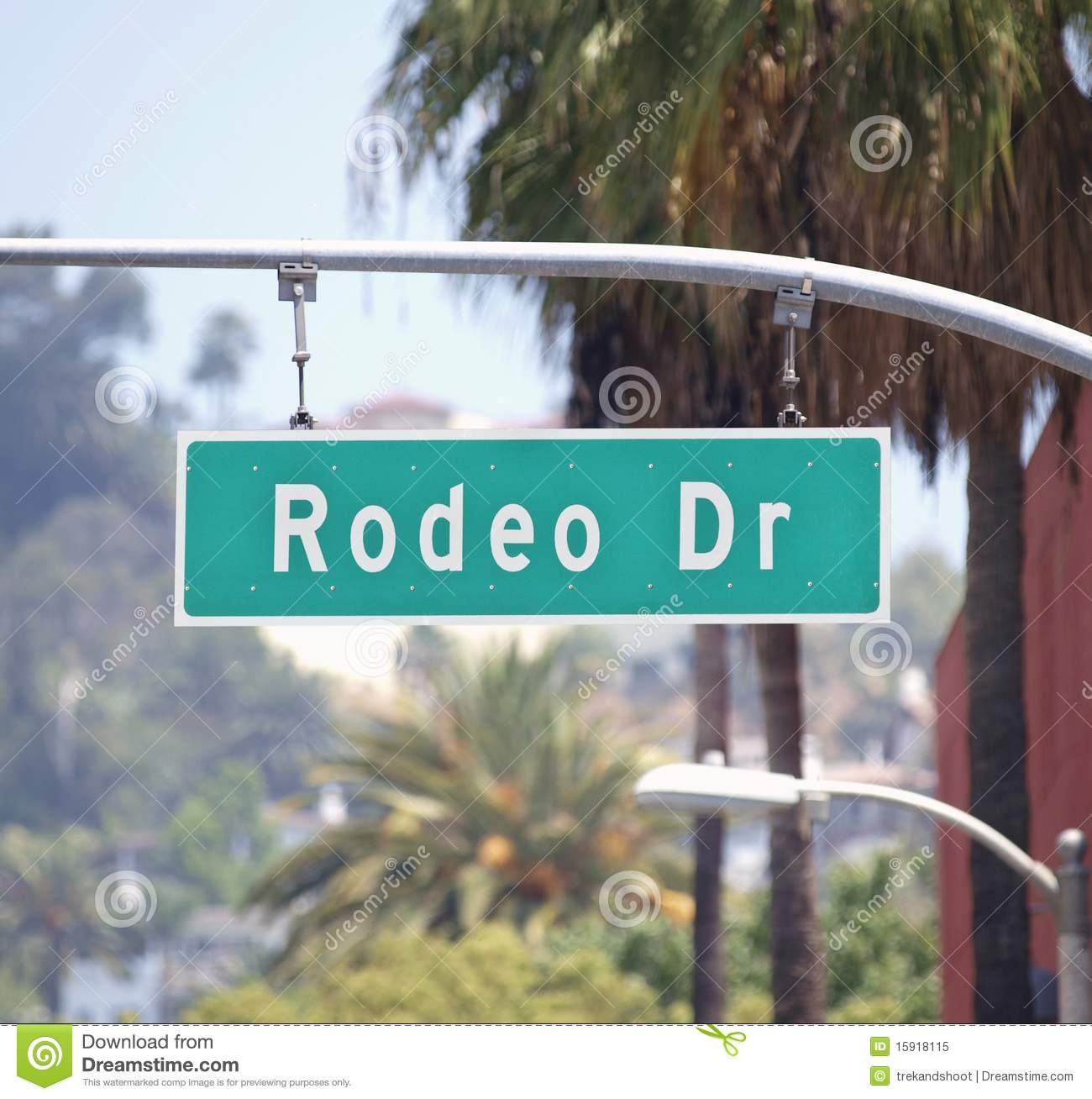 Rodeo Drive Sign Stock Images.