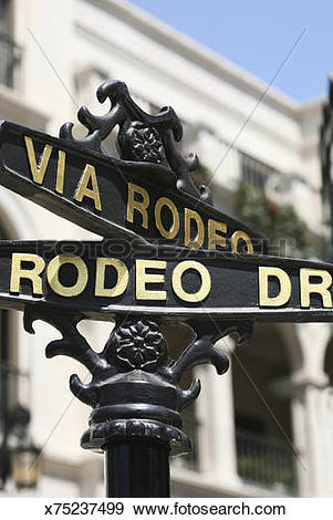 Stock Photograph of Rodeo Drive street sign x75237499.