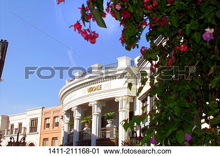 Stock Photography of Los Angeles Ca, Rodeo drive stores. 1411.