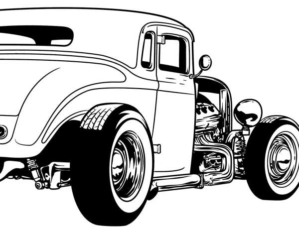 Gallery For > Hot Rod Cartoon Clipart.