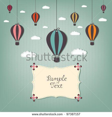Balão Vetores e Vetores clipart Stock.