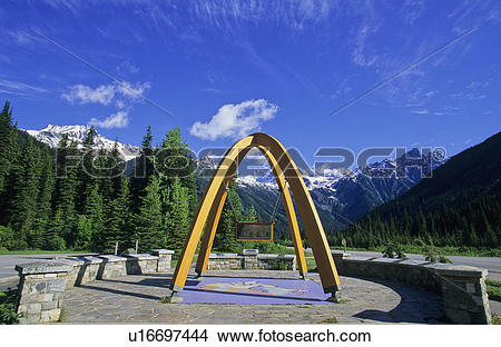 Stock Photo of Rogers Pass Summit, Glacier National Park, British.