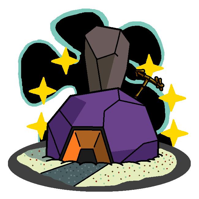 Shiny Roggenrola + Patrick's House (SpongeBob) by shawarmachine on.