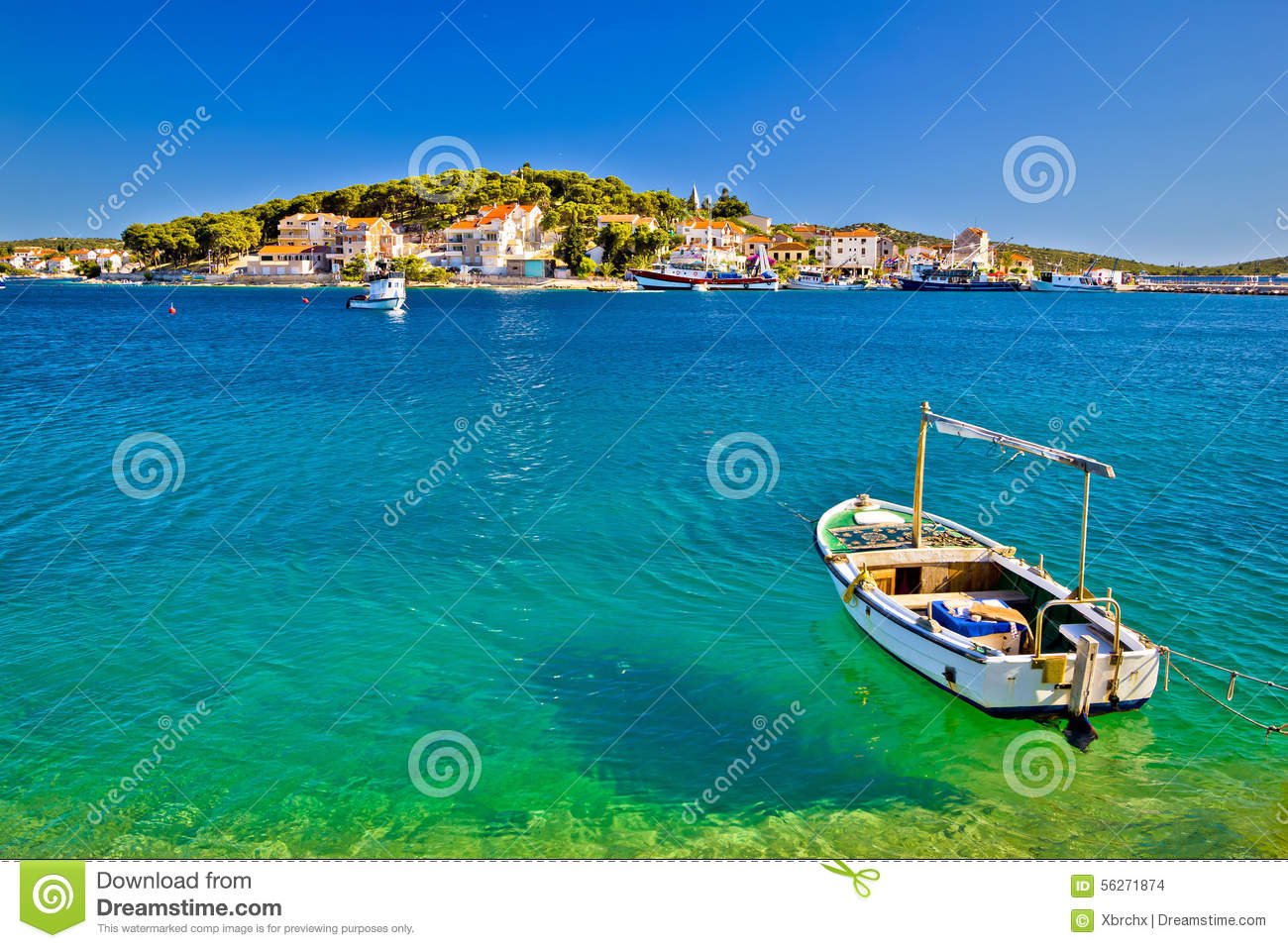 Beautiful Beach In Rogoznica Croatia Stock Photo.