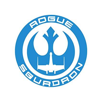 Amazon.com: Star Wars Rogue Squadron Logo Crest Symbol.