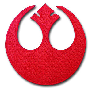 Details about Rebel Alliance Rogue Squadron Star Wars Logo Patch  Embroidered Iron on Emblem.