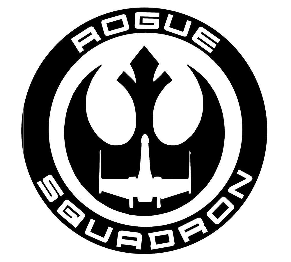 Star Wars Rogue Squadron Sticker Vinyl Decal Oracal.