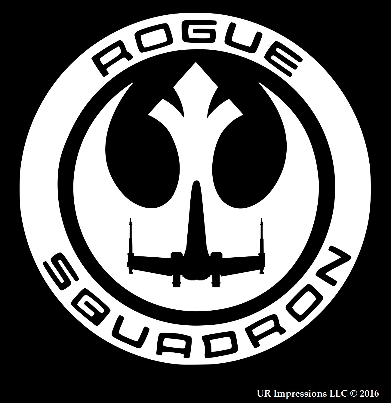 Rogue Squadron Star Wars Rogue One Inspired Decal Vinyl Sticker Graphics.