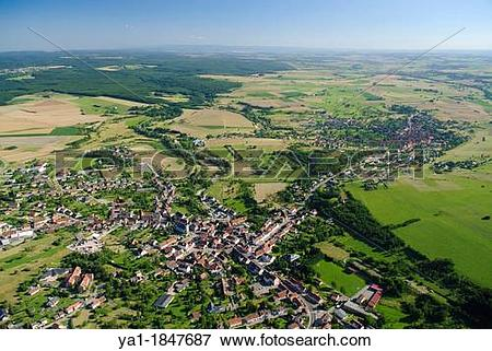 Picture of French village of Rohrbach les Bitche, Moselle.