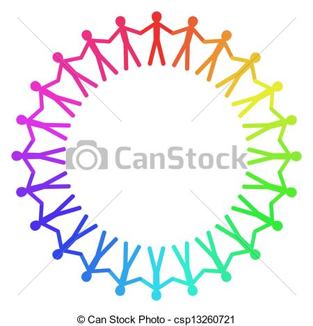 Clip Art of People Chain.