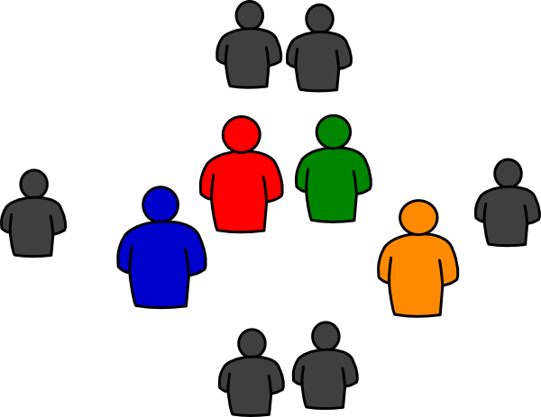 Group Of People In Round Clip Art at Clker.com.
